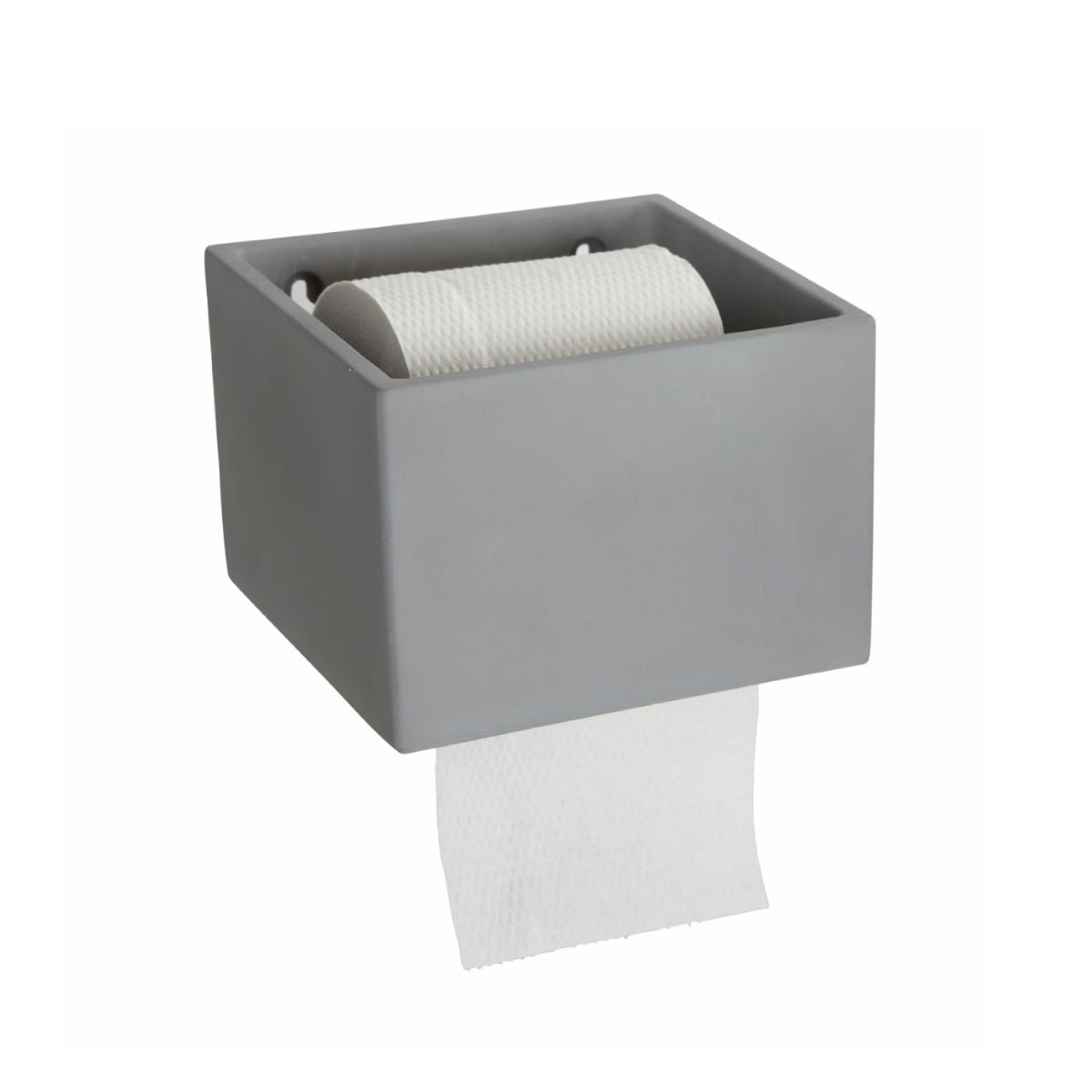 House Doctor Grey Concrete Toilet Roll Holder