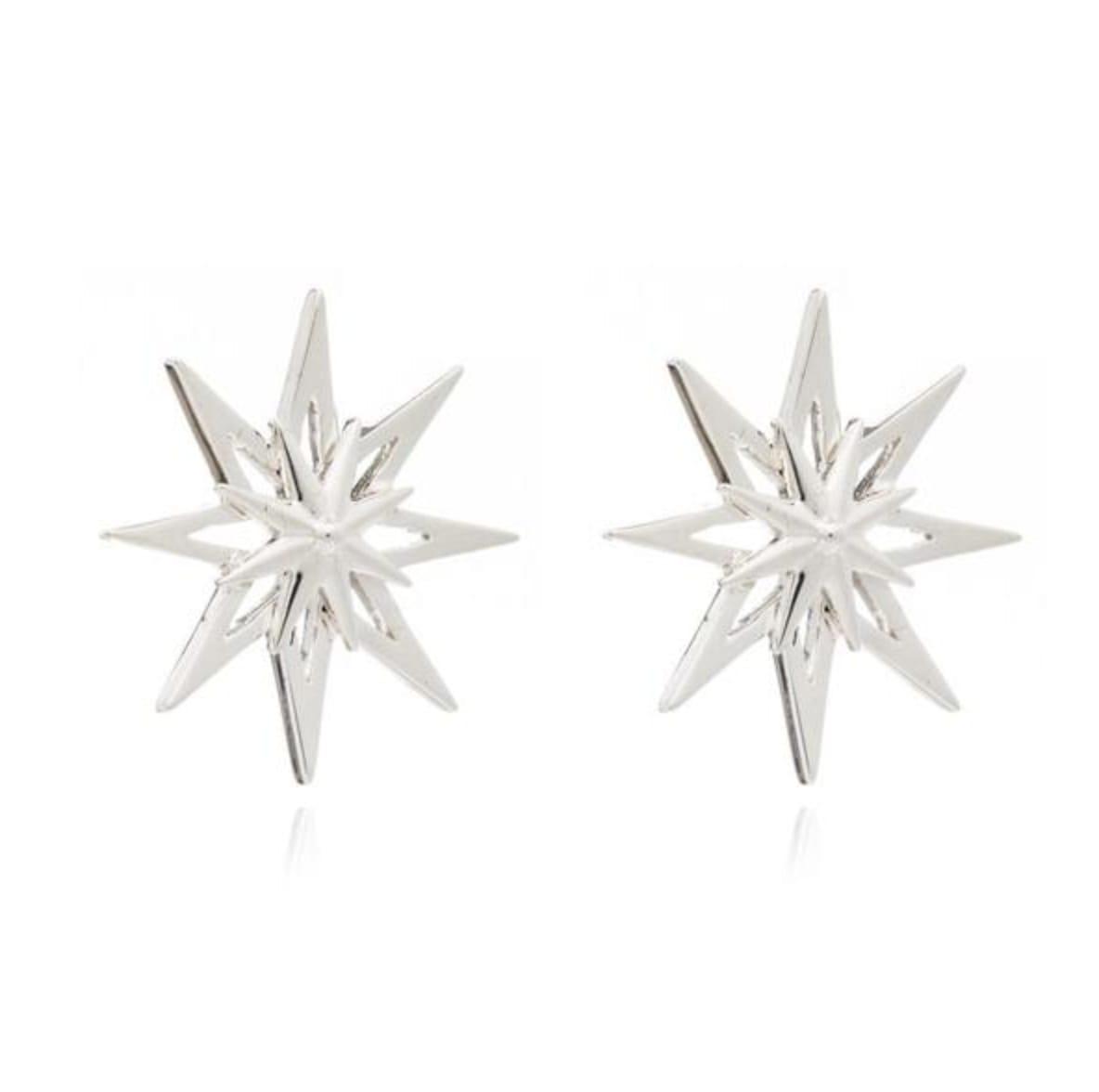 Rachel Jackson Silver Rock Star Large Earring Studs
