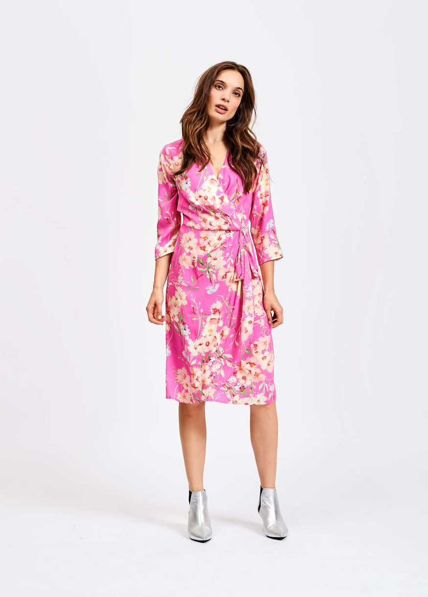 Essentiel Antwerp Pink  Soulja Floral Wrap Dress