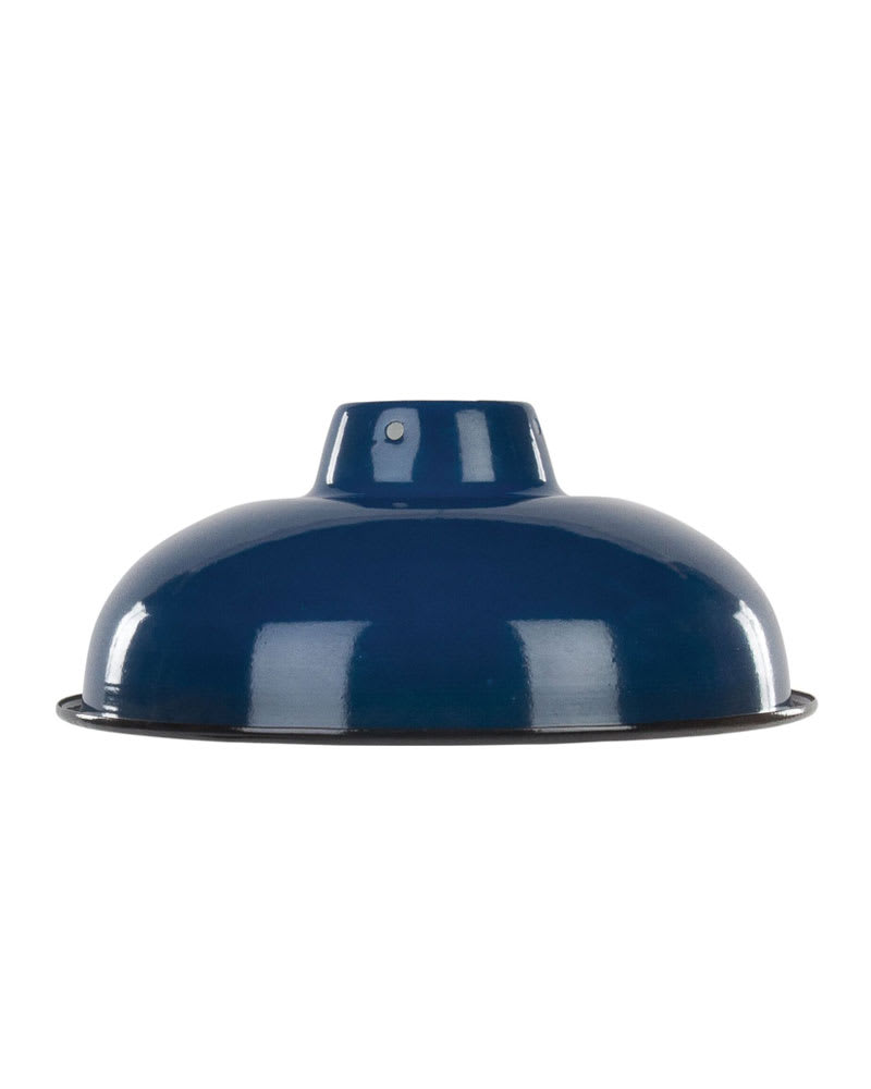 Royal Blue Medium Enamel Lampshade