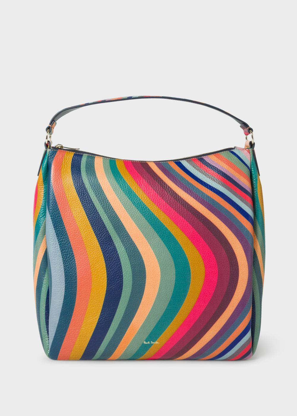 Paul Smith Mini Zip Hobo Swirl Print Bag