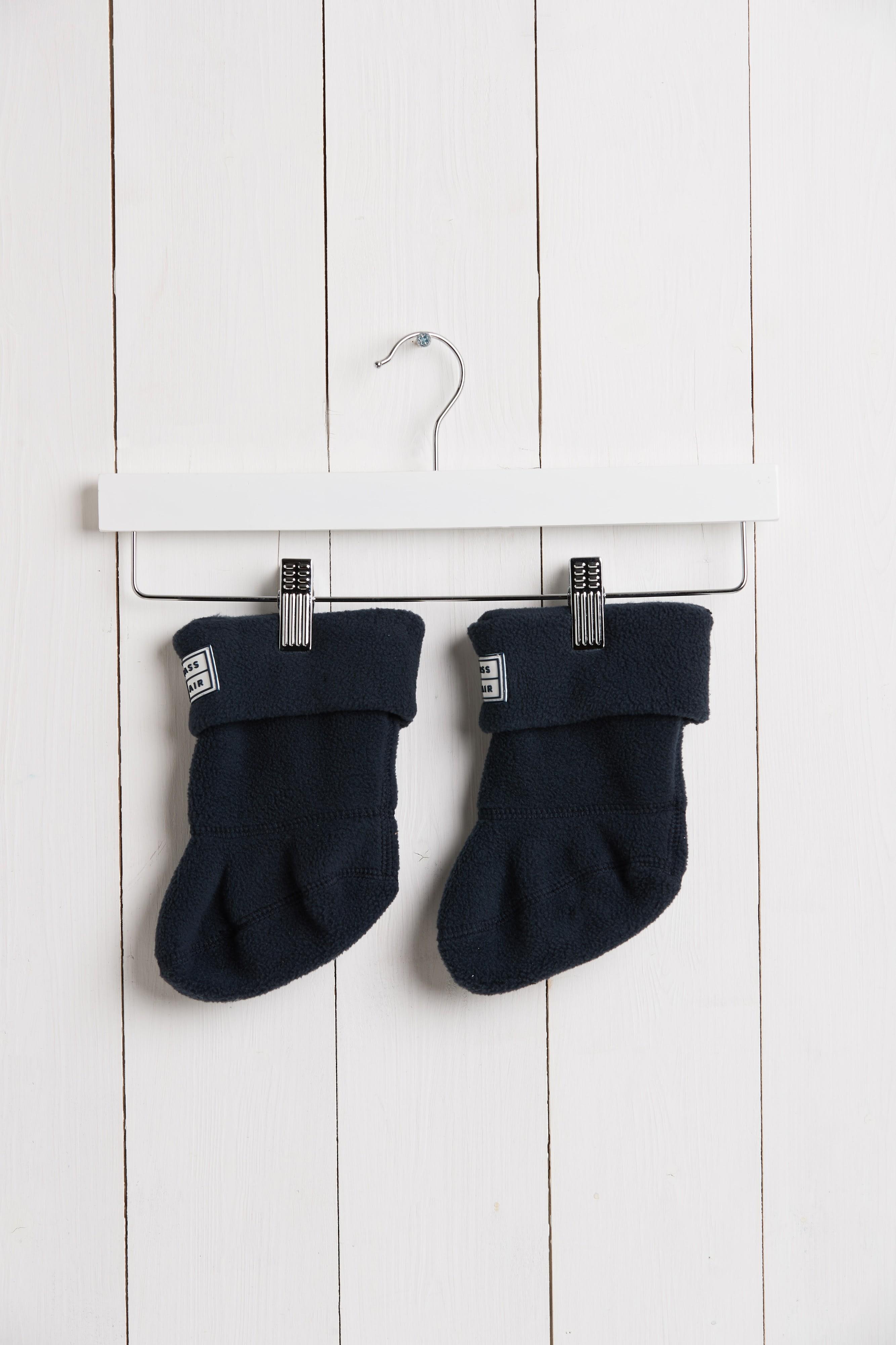 Grass & Air Navy Fleece Welly Boot Sock
