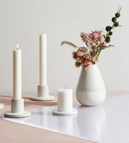 Broste Copenhagen Large White Stoneware Drop Vase