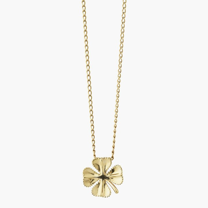 Aym Gold Lucky Clover Necklace