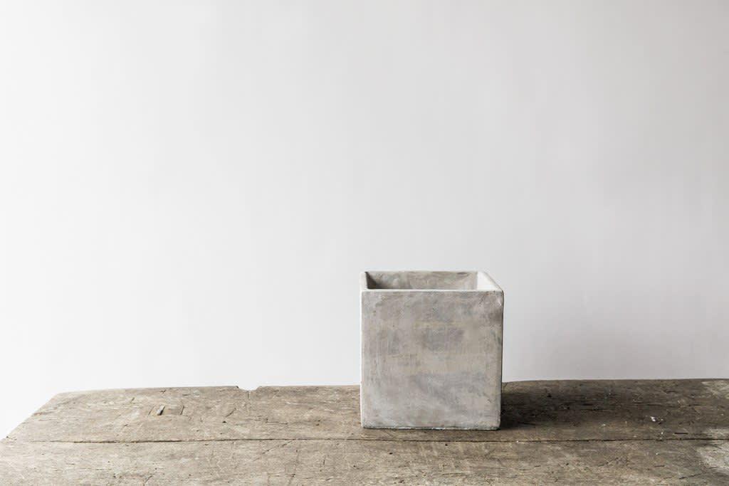 Large Square Concrete Pot (15x14.5)
