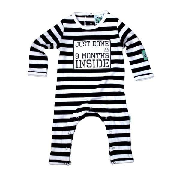 Lazybaby Babygrow - Just Done 9 Months Inside 0-6 Months
