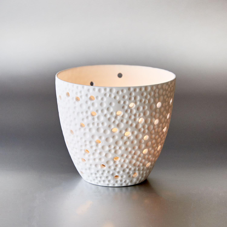 Light-Glow Bubbles Tea Light Candle Holder Cup