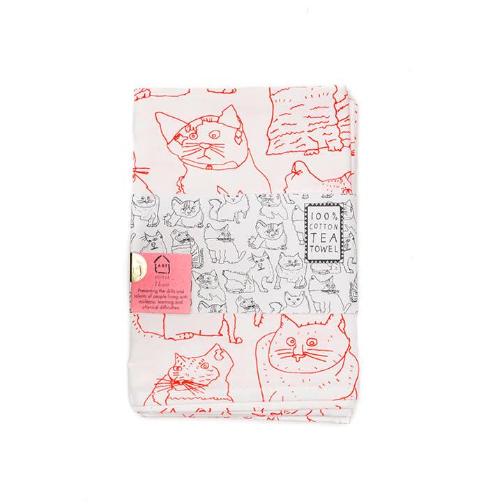 ARTHOUSE Unlimited Cats Tea Towel