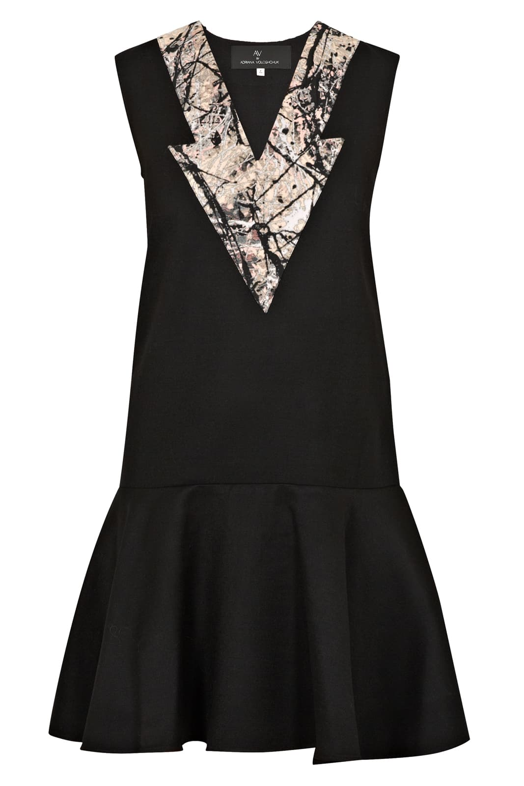 AV London Wool Dress With Jacquard Detail