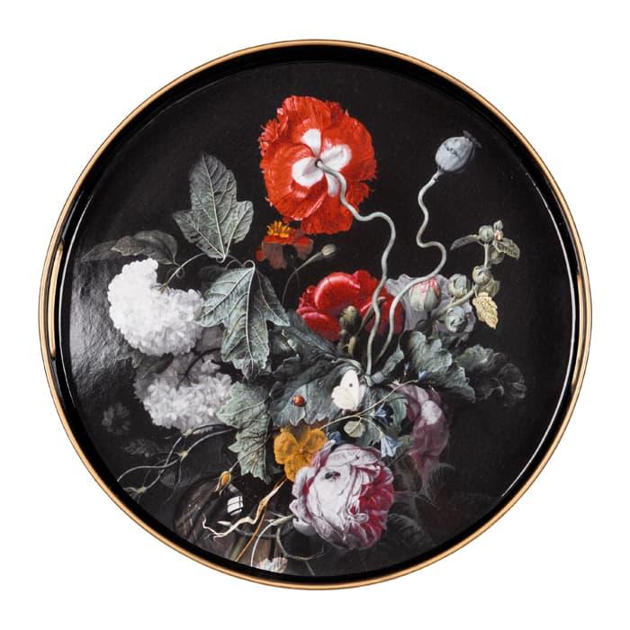 V&A Dutch Flowers Round Serving Tray