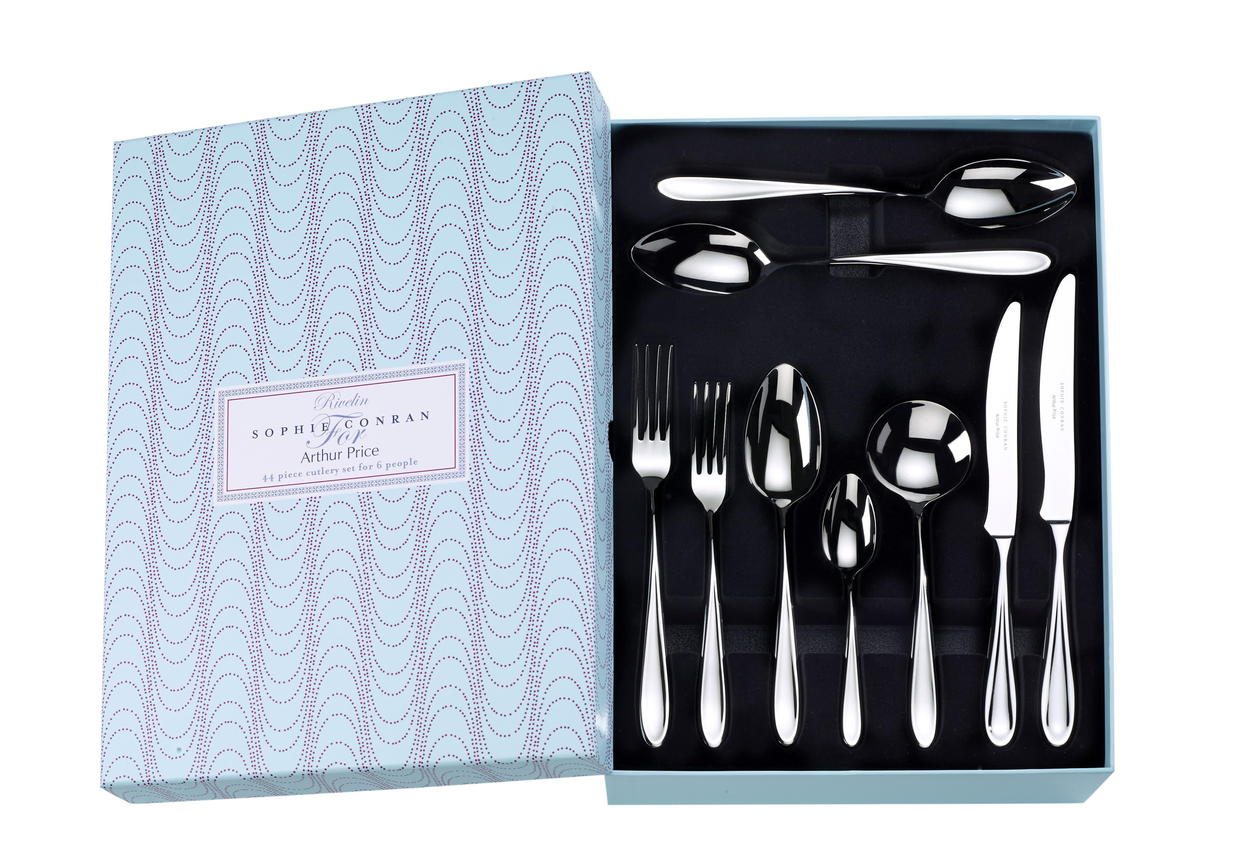 Arthur Price Sophie Conran Rivelin 44 Piece Cutlery Set Boxed