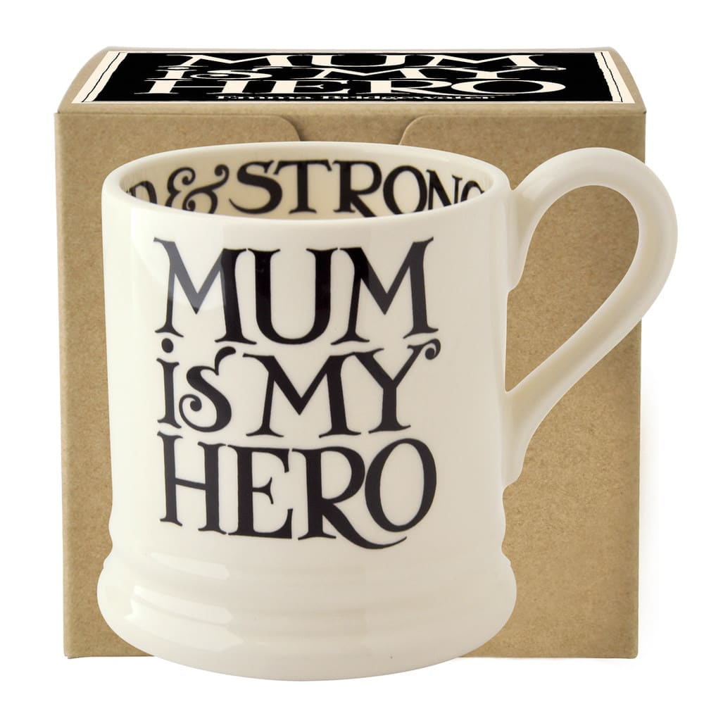 Emma Bridgewater Black Toast Mum is My Hero 1/2 Pint Mug