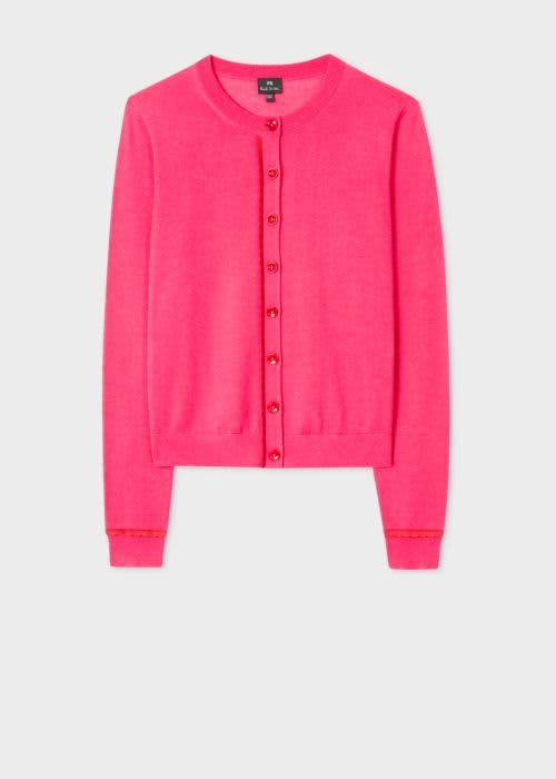 PS by Paul Smith Fuscia Wool Cardigan
