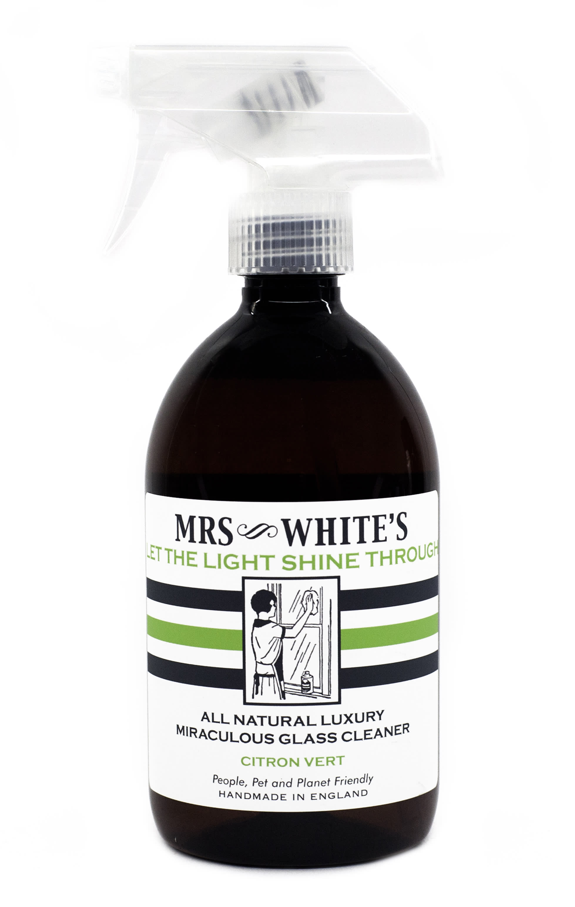 Mrs White's  Let the Light Shine Through - Glass Cleaner