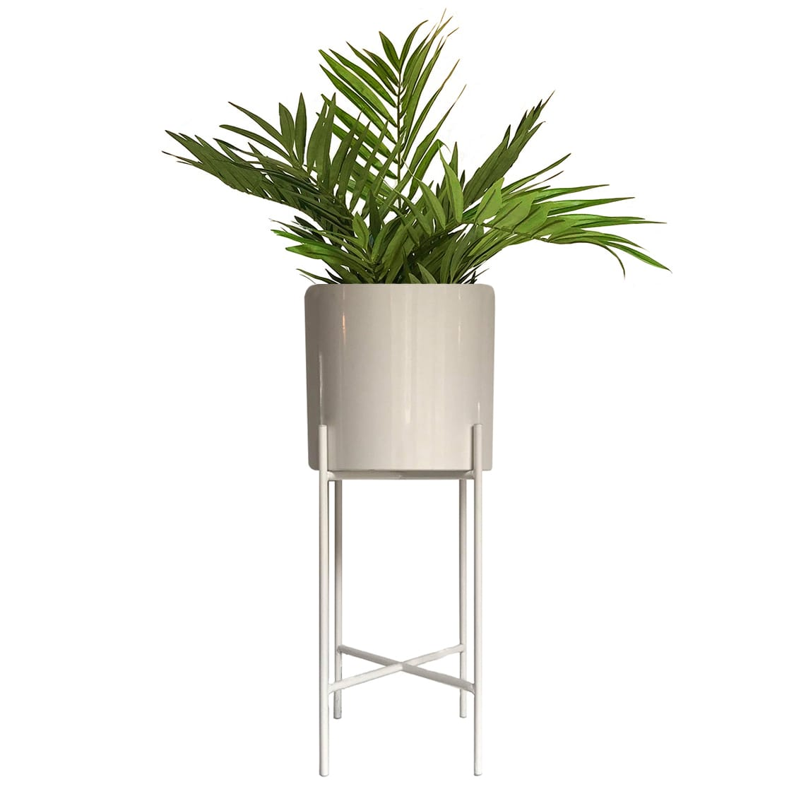 Hubsch Large White Metal Planter