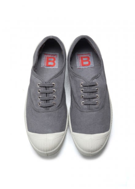 Bensimon Grey Lace Up Tennis Shoe