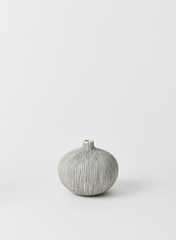Lindform Bari Grey Striped Bud Vase