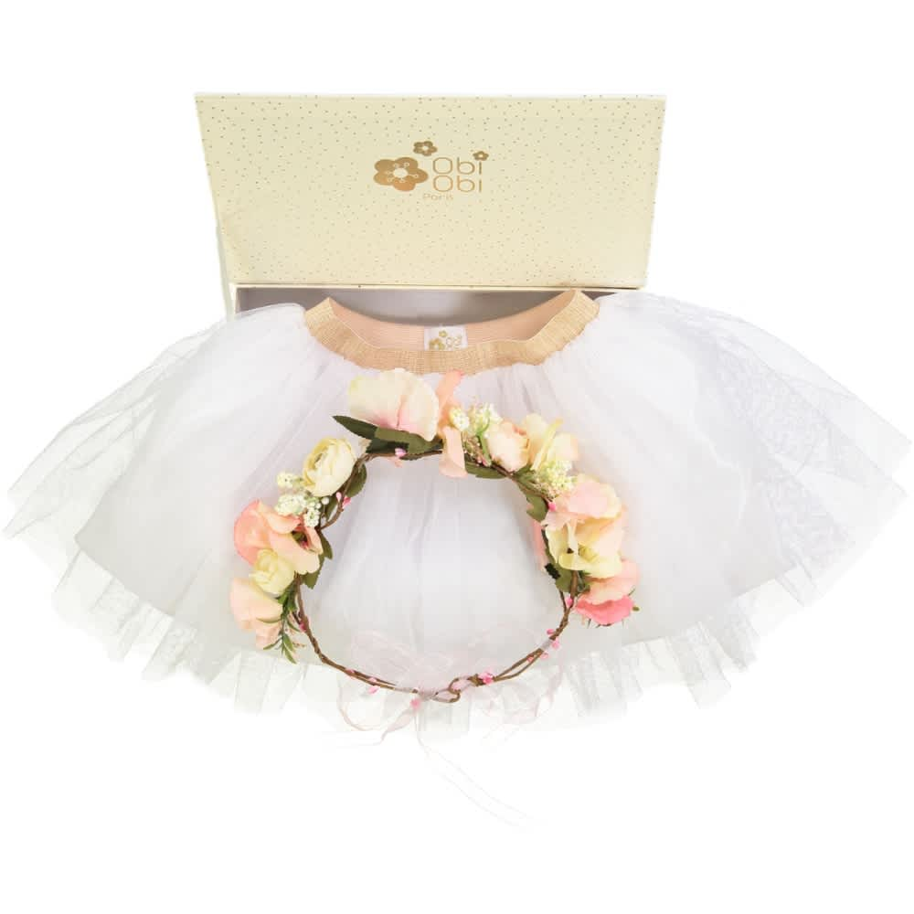 OBI OBI Pink Flowers Crown and Tutu Gift Set