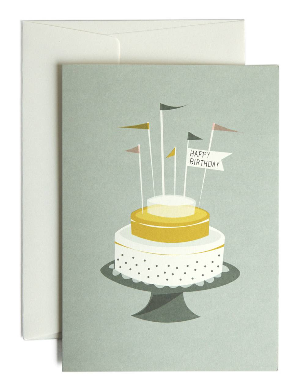 Pleased To Meet Birthday Cake Greeting Card