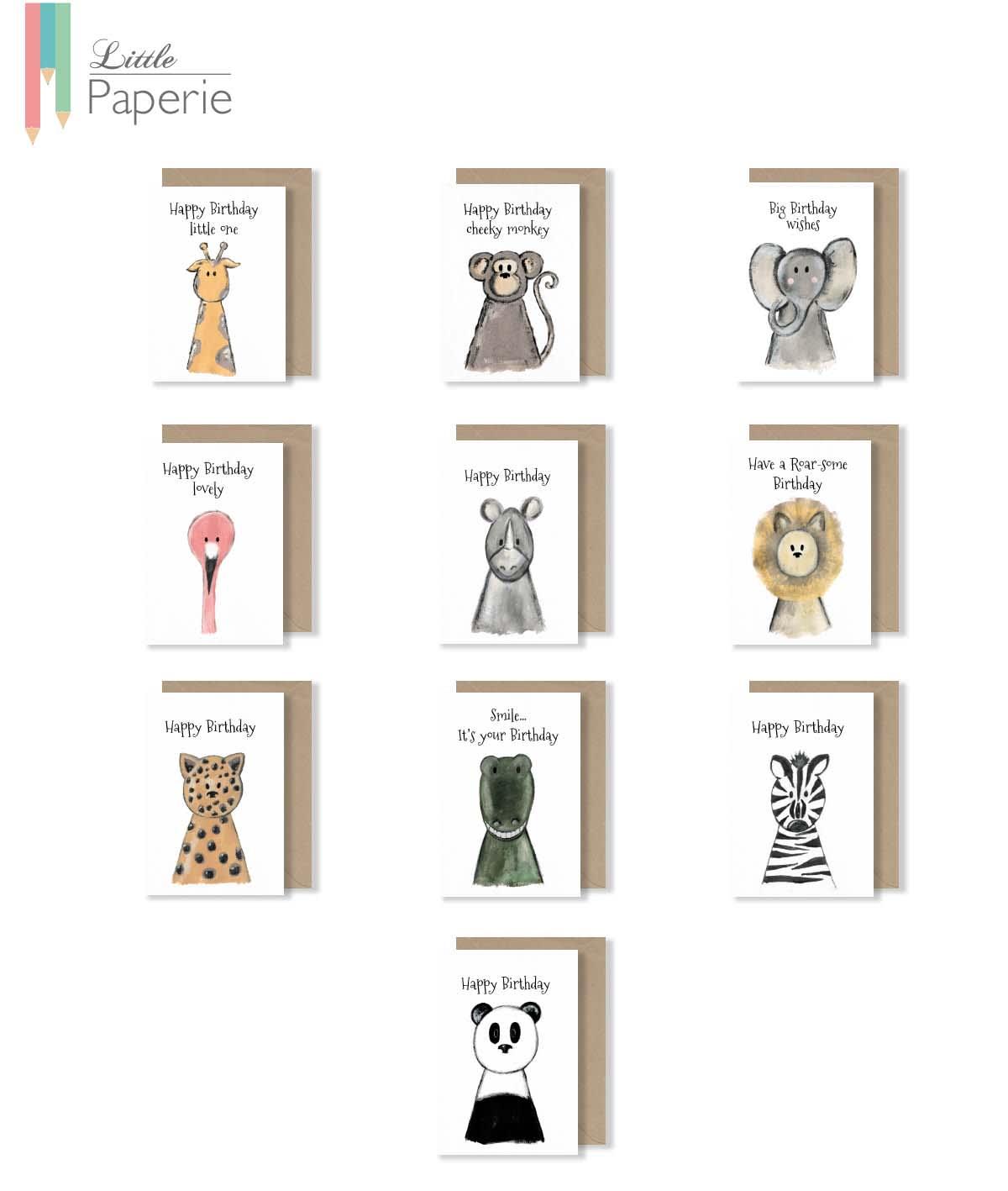 Snapshot Zoo Birthday Card Bundle