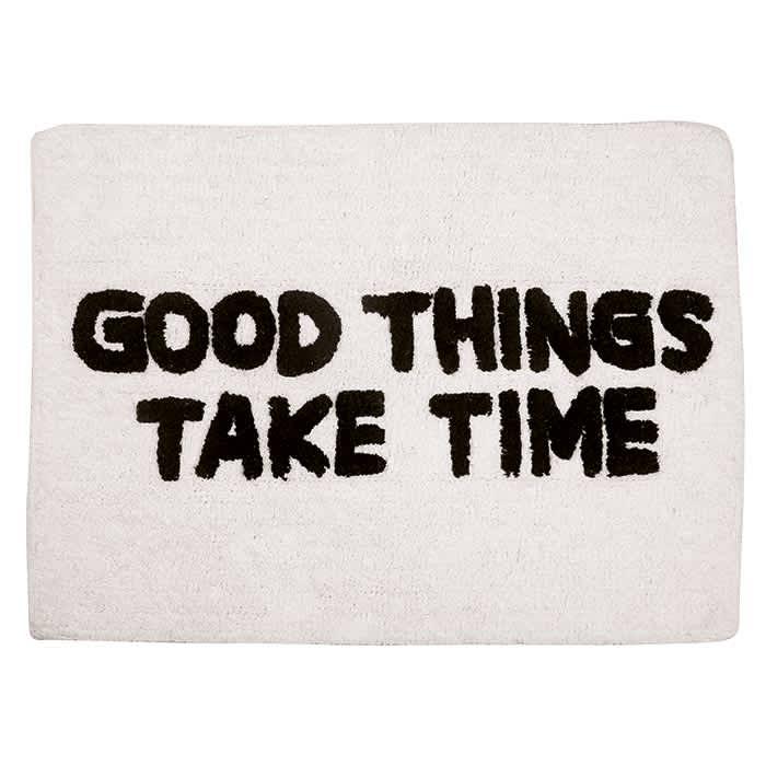 AU Maison Quote Bath Mat - Good Things Take Time