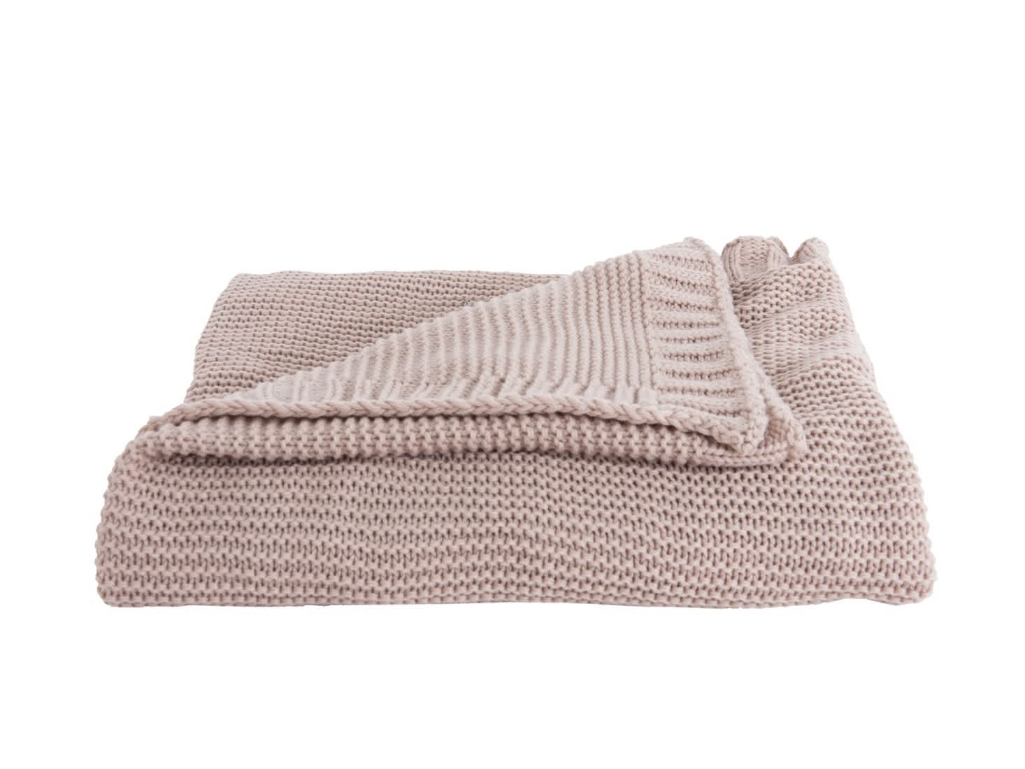 Present Time Dusty Pink Snuggle Throw