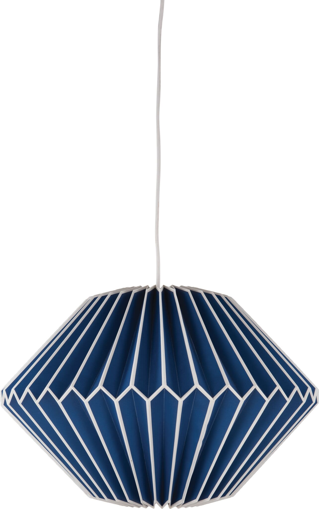 Ian Snow Sea Blue Pleated Paper Lampshade