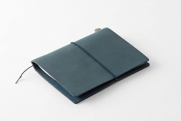 Traveler's Company Traveler's Notebook Blue Leather Passport Size