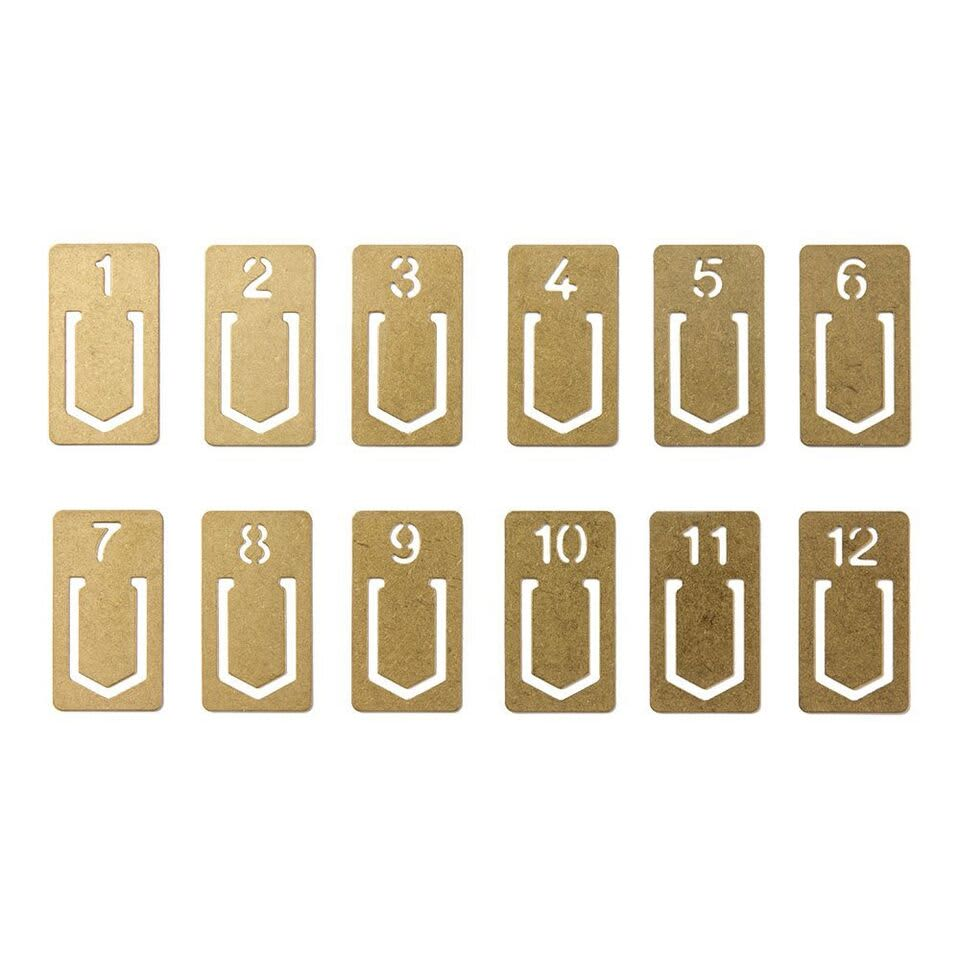Traveler's Company TRC Brass Number Clips