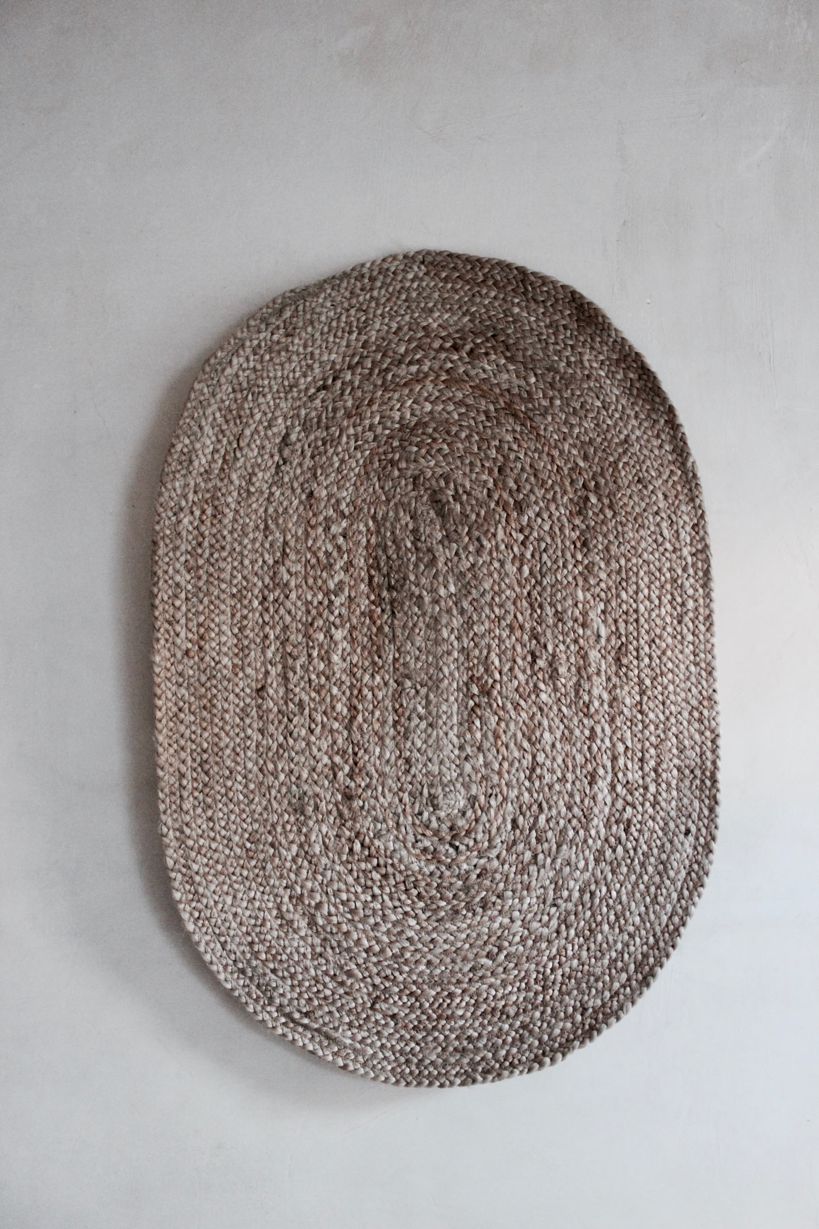 Medium Size Natural Jute Handmade Doormat/Bathmat