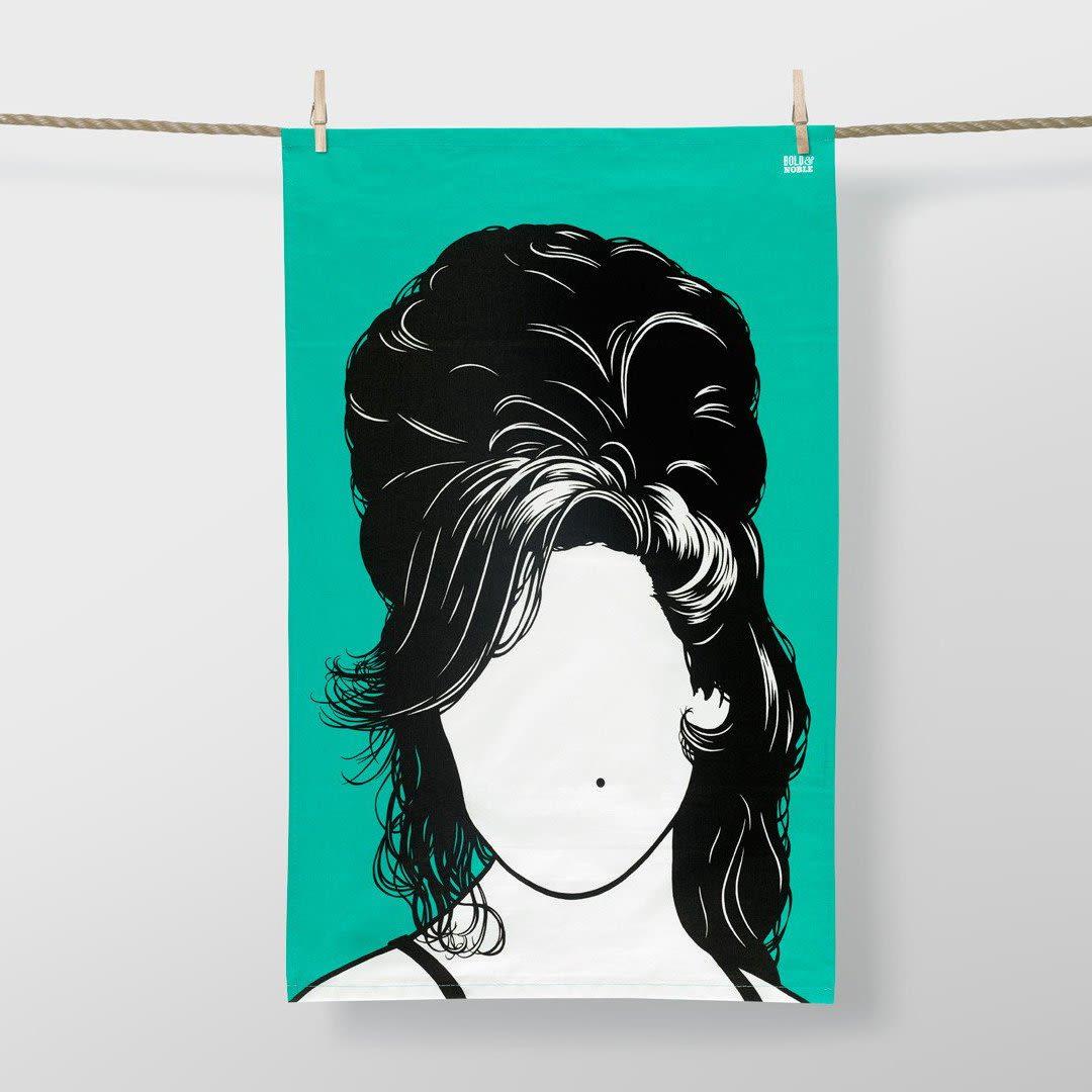 Bold & Noble  47 x 74cm Amy Winehouse Tea Towel
