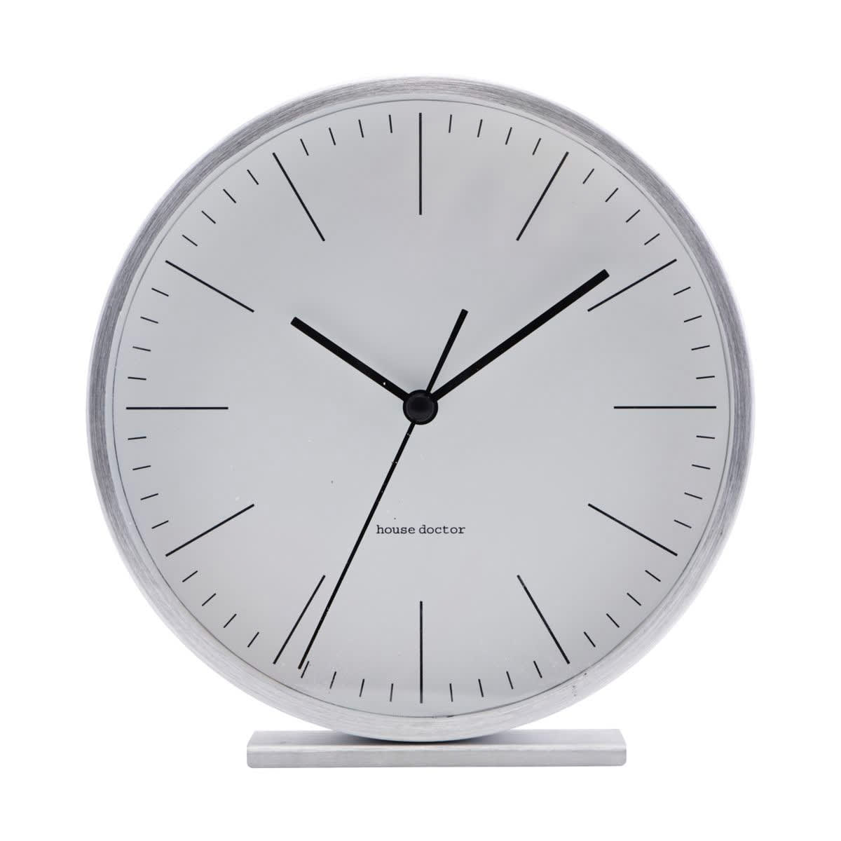 House Doctor Silver Table Clock
