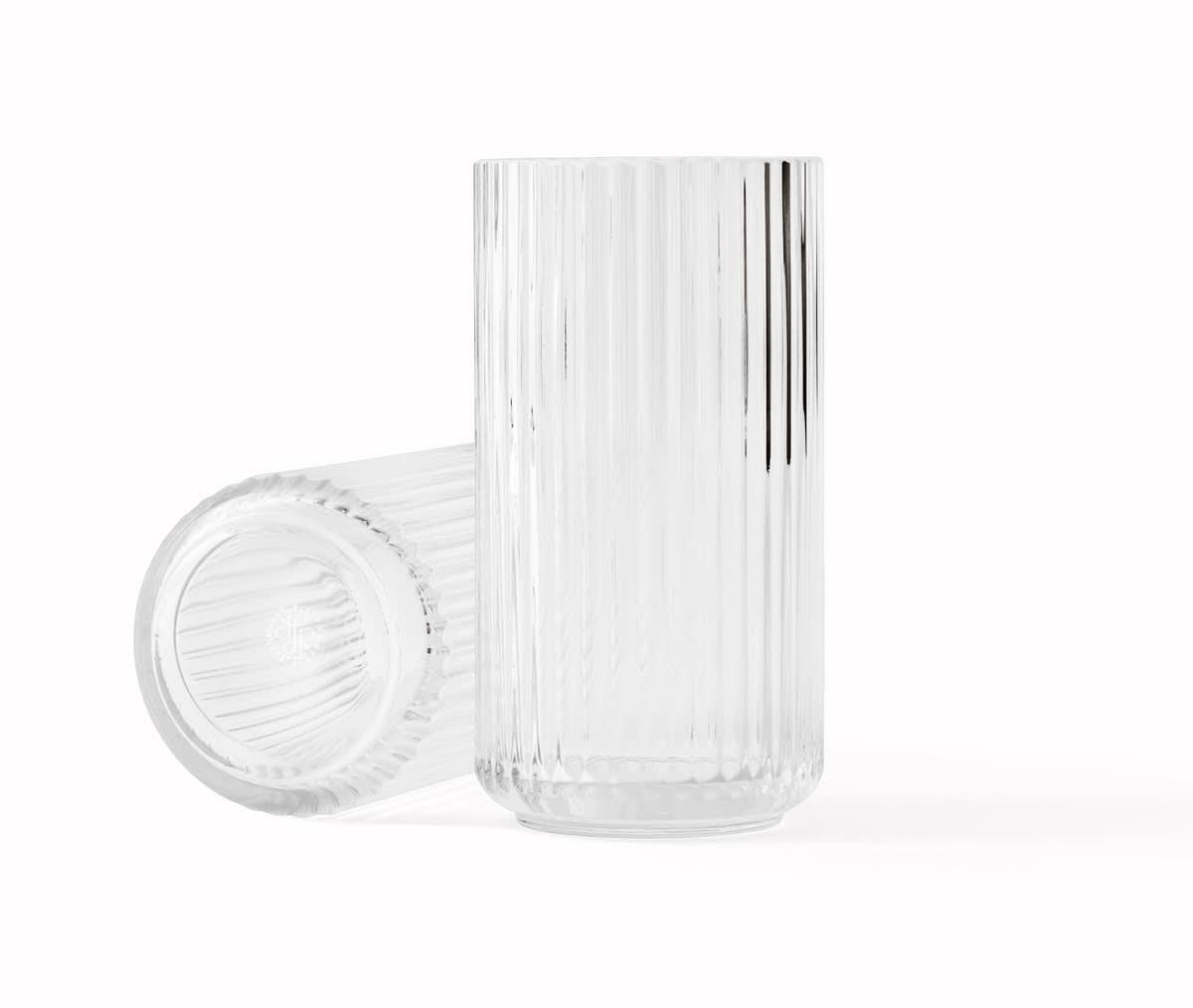 Lyngby Porcelain 20 CM Clear Glass Vase