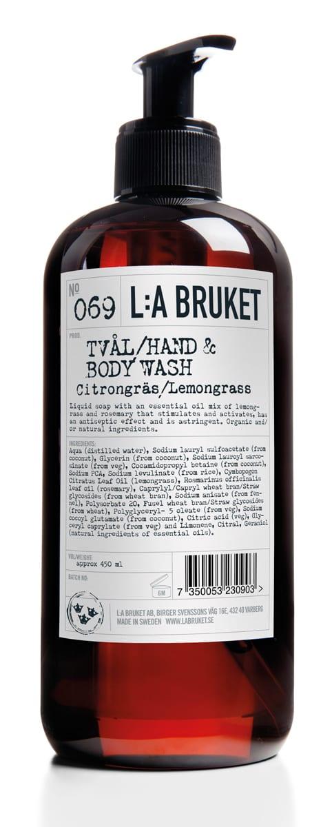L:A Bruket Lemongrass Liquid Soap 450 ml