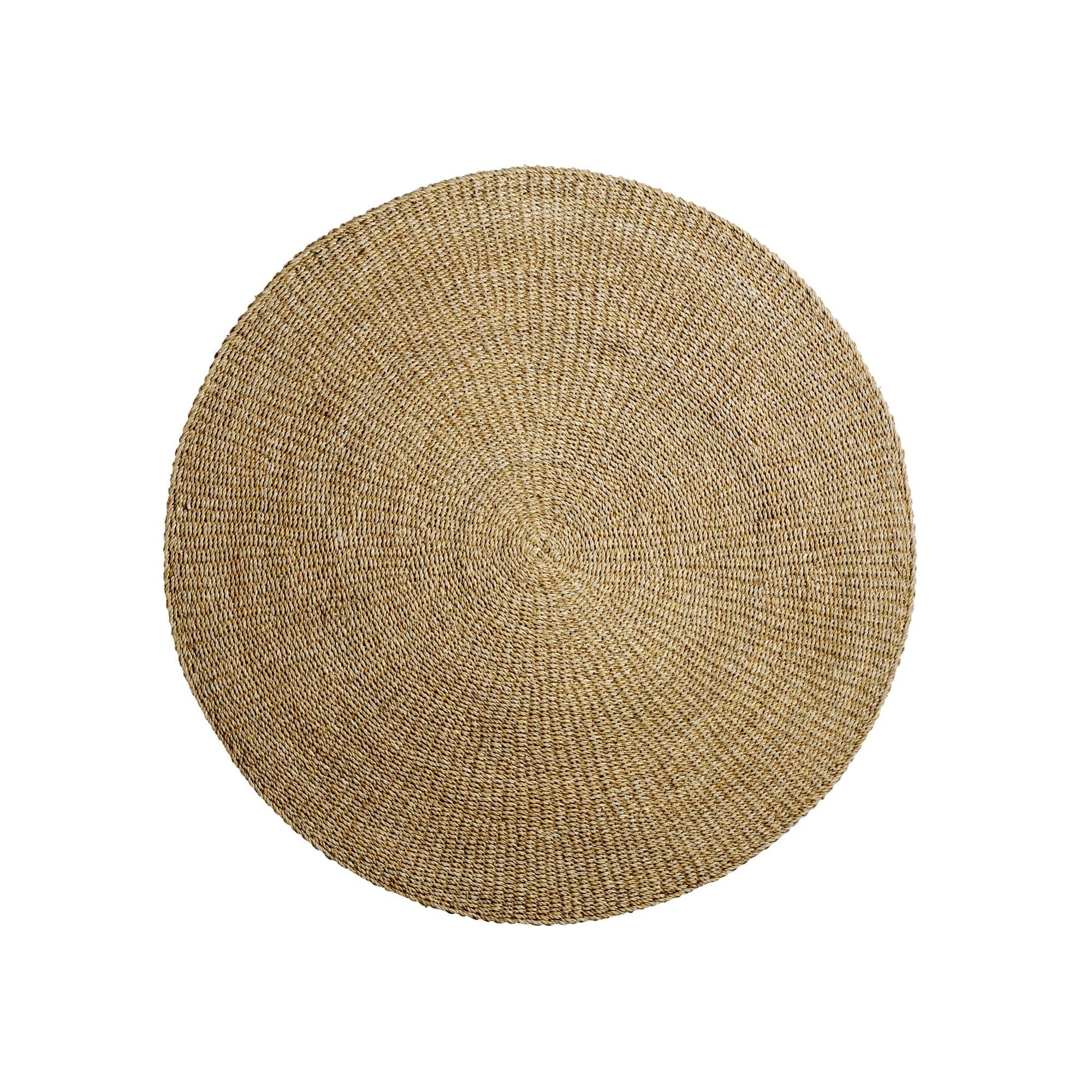 Bloomingville Woven Seagrass Circular Round Rug