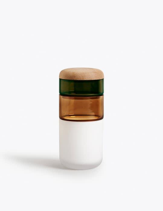 New Works White/Bronze/Green Pi-no-pi-no Vase