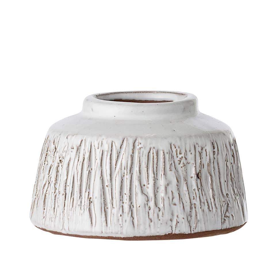 Bloomingville White Terracotta Deco Vase