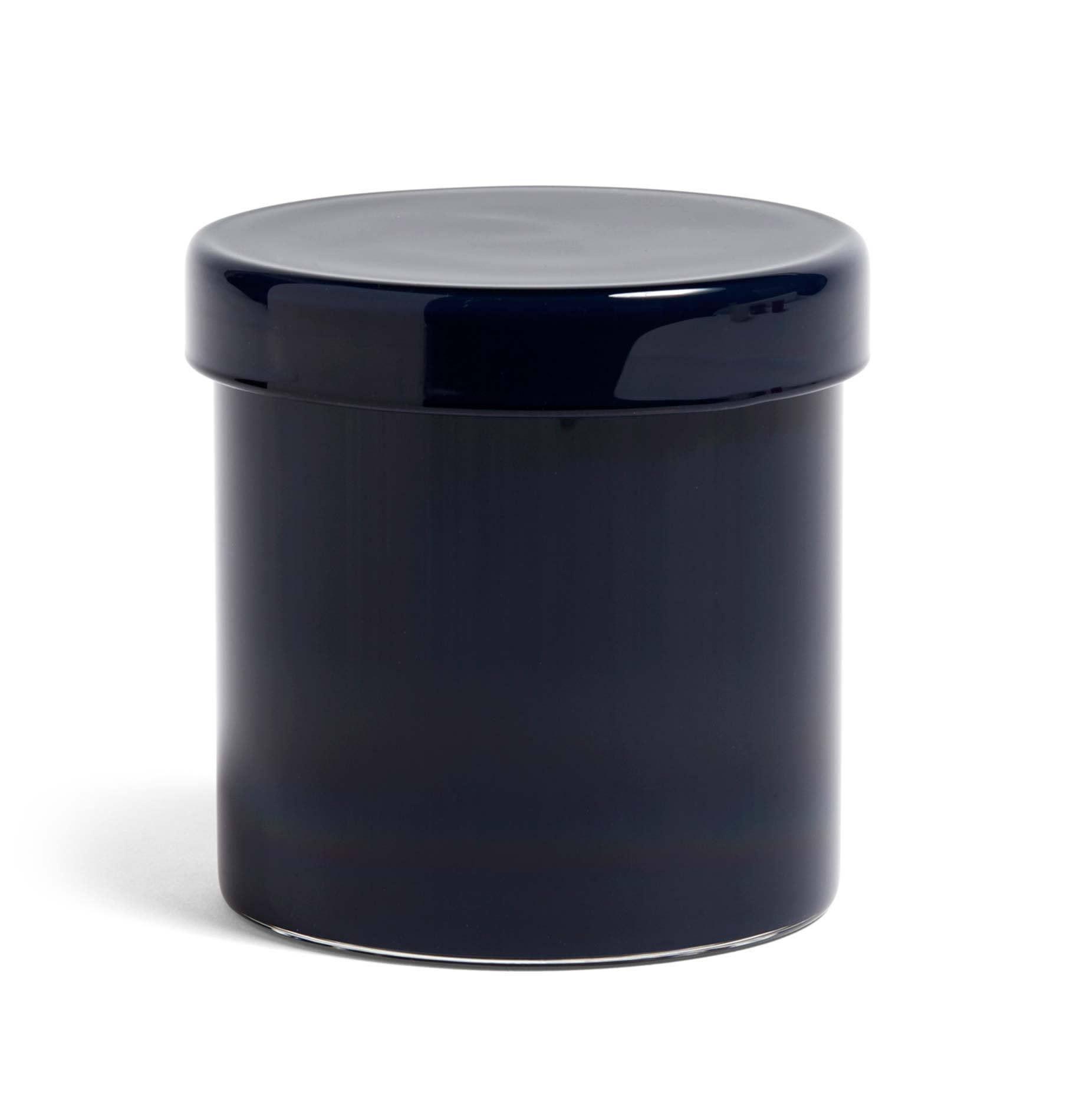 HAY Large Glass Container Dark Blue