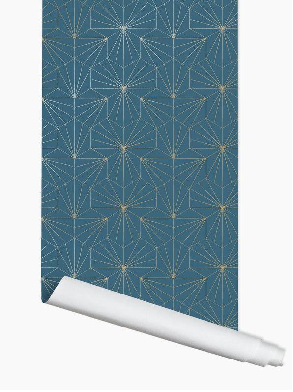 Papermint 10 Linear Metre Blue Tile Roll
