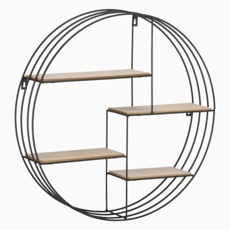 Trouva Circular Black And Copper Wire Shelves