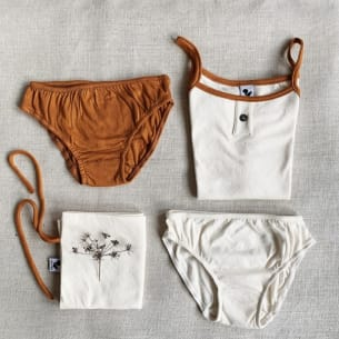 Organic Underwear Pack for Girls Risu Risu
