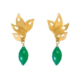 Boucles d'oreilles Alappuzha Vert onyx