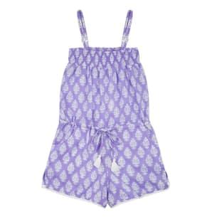 100% Cotton Lavender Playsuit