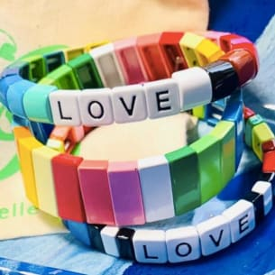 love colourful bracelet made in England