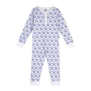 Pyjama enfant imprimé tigre bleu