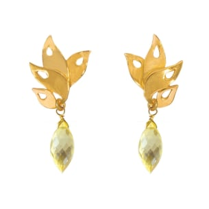 Boucles d'oreilles Alappuzha Tropical Citrine