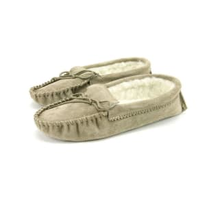 Adult Wool Lined Moccasins Beige