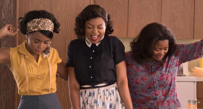 The film stars Janelle Monae as Mary Jackson, Taraji P Henson as Katherine G Johnson, and Octavia Spencer as Dorothy Vaughan. Picture: Fox Movies
