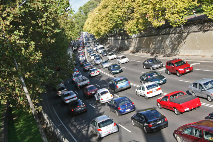 Driving cars drives up the temperature in Australia's big cities. Picture: <a href=