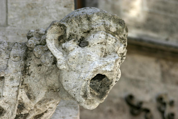 A gargoyle damaged by acid rain. Picture: Nino Barbieri via Wikimedia Commons